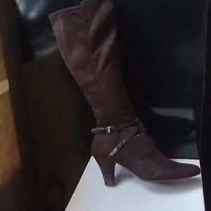 Brown Boots wide calf
